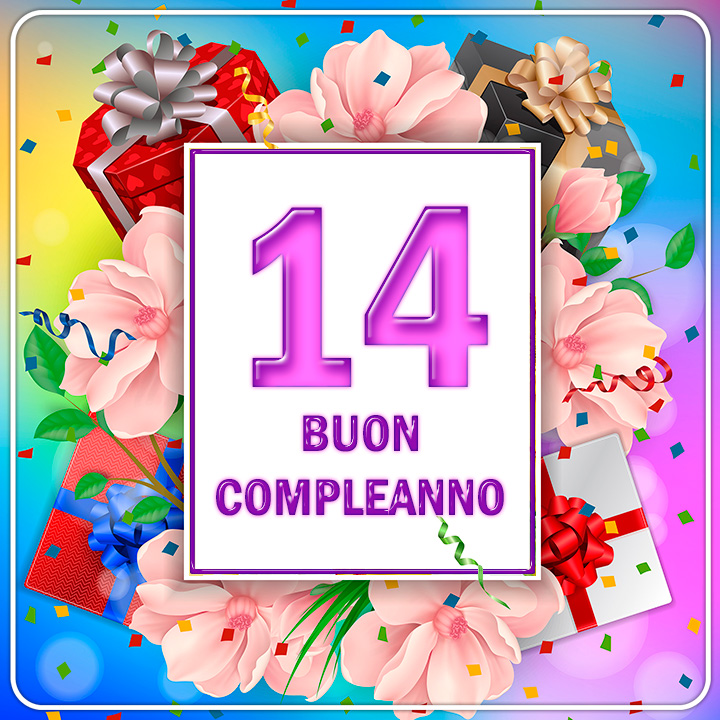 Image result for buon compleanno 14